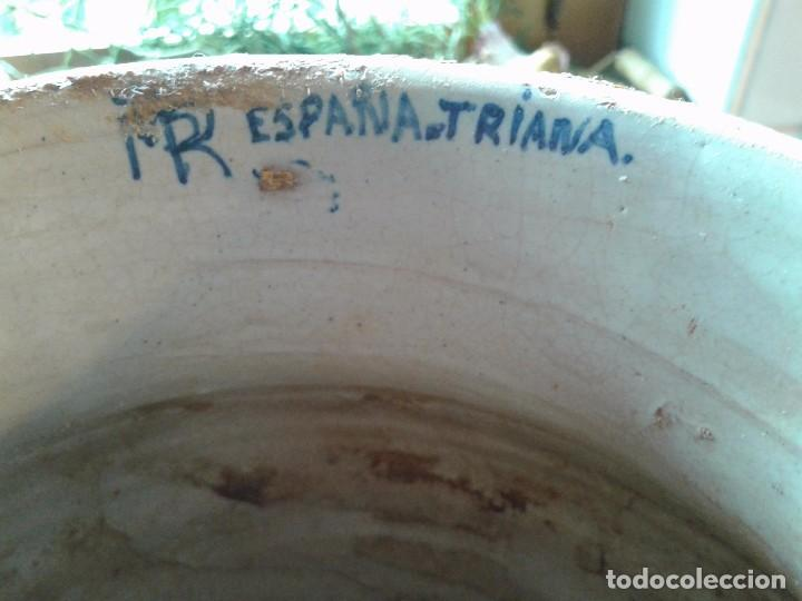 Antigüedades: ANTIGUA PIEZA, ORZA DE CERÁMICA DE TRIANA. FIRMADA. ALTURA 34.5 CM - Foto 8 - 81639864