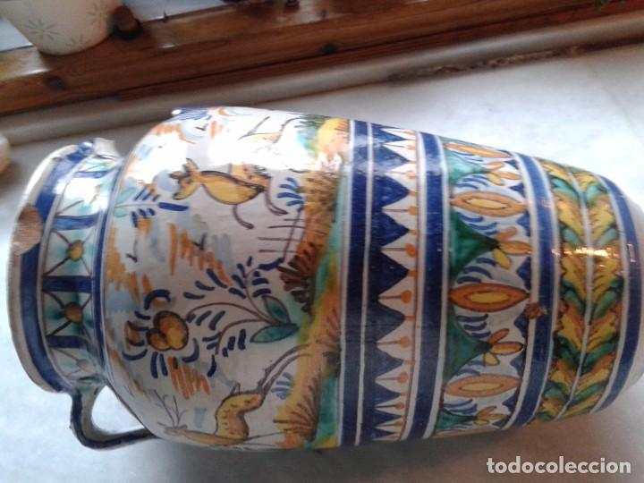 Antigüedades: ANTIGUA PIEZA, ORZA DE CERÁMICA DE TRIANA. FIRMADA. ALTURA 34.5 CM - Foto 9 - 81639864