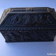 Antigüedades: COFRE DE TERRACOTA, BARRO COCIDO, MEDIDAS; 22CM.X13CM.X11CM.. Lote 81659848
