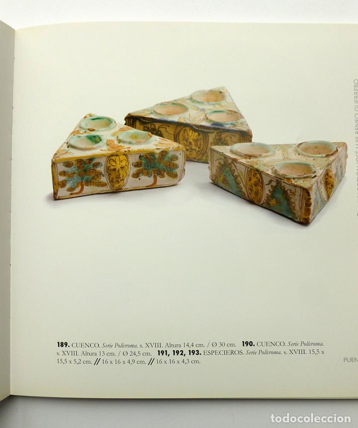 Antigüedades: ANTIGUO ESPECIERO TRIANGULAR DE CERÁMICA ANTIGUA PUENTE DEL ARZOBISPO SERIE POLÍCROMA SIGLO XVIII - Foto 4 - 81673852