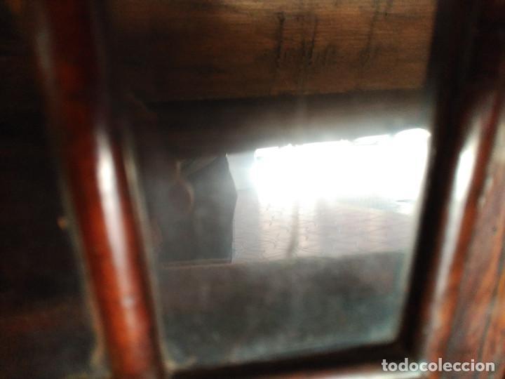 Antigüedades: MAGNIFICA VITRINA GEORGIANA CAOBA PEQUEÑO TAMAÑO PARA COLGAR O SOBRE REPISA Pp SIGL XVIII 1.450, € - Foto 9 - 81678016