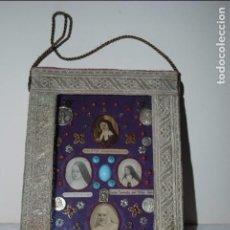 Antigüedades: CUADRITO CON MEDALLAS RELIGIOSA .. Lote 81685012