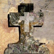 Antigüedades: PRECIOSA PILA DE MÁRMOL VETEADO - IGLESIA - BENDITERA - CAPILLA - AGUA BENDITA - PARA SANTIGUARSE. Lote 81690796