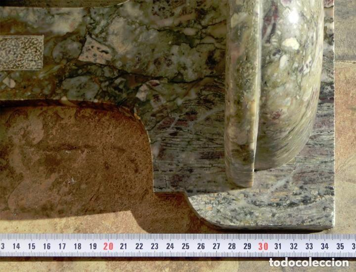 Antigüedades: PRECIOSA PILA DE MÁRMOL VETEADO - IGLESIA - BENDITERA - CAPILLA - AGUA BENDITA - PARA SANTIGUARSE - Foto 7 - 81690796