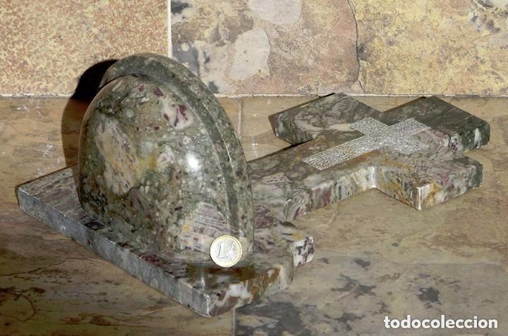 Antigüedades: PRECIOSA PILA DE MÁRMOL VETEADO - IGLESIA - BENDITERA - CAPILLA - AGUA BENDITA - PARA SANTIGUARSE - Foto 13 - 81690796