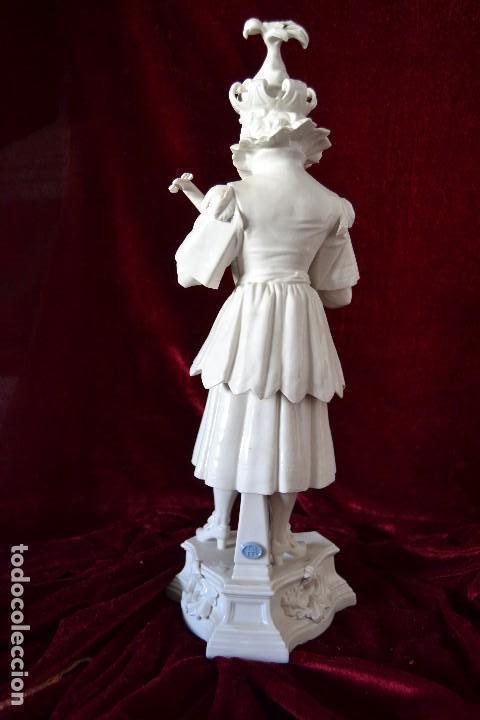 Antigüedades: figura musico siglo XVII en porcelana algora - Foto 2 - 81712540