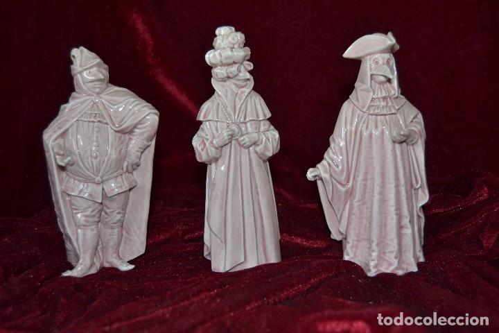 CONJUNTO FIGURAS PORCELANA ALGORA CARNAVALES (Antigüedades - Porcelanas y Cerámicas - Algora)