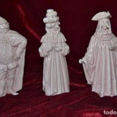 Antigüedades: CONJUNTO FIGURAS PORCELANA ALGORA CARNAVALES. Lote 81712968
