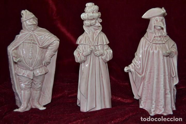 Antigüedades: conjunto figuras porcelana algora carnavales - Foto 2 - 81712968