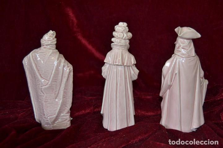 Antigüedades: conjunto figuras porcelana algora carnavales - Foto 3 - 81712968