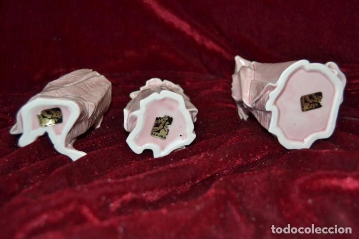 Antigüedades: conjunto figuras porcelana algora carnavales - Foto 5 - 81712968