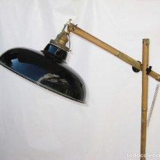 Antigüedades: VIP! LAMPARA ANTIGUA DE ATELIER IDEAL DECORACION INDUSTRIAL VINTAGE EN HIERRO TALLER VINTAGE. Lote 81713484