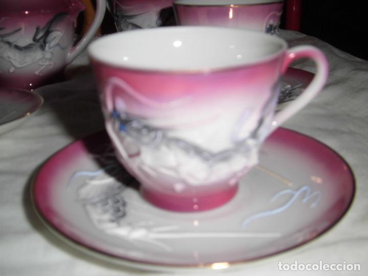 Antigüedades: ANTIGUO JUEGO DE CAFE MADE IN JAPAN,LAS TAZAS MIRADAS AL TRASLUZ SE VE LA CARA DE UNA JAPONESA. - Foto 6 - 81839752