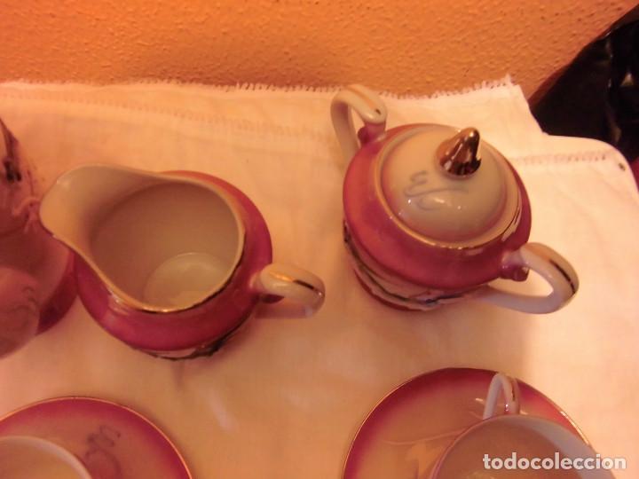 Antigüedades: ANTIGUO JUEGO DE CAFE MADE IN JAPAN,LAS TAZAS MIRADAS AL TRASLUZ SE VE LA CARA DE UNA JAPONESA. - Foto 11 - 81839752
