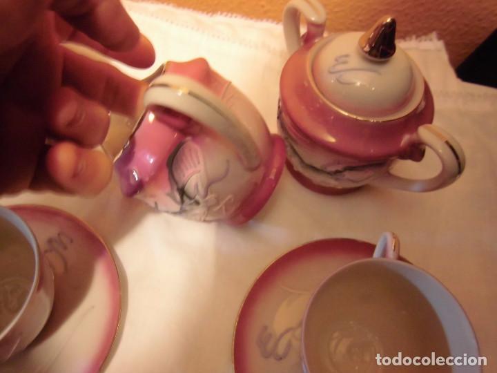 Antigüedades: ANTIGUO JUEGO DE CAFE MADE IN JAPAN,LAS TAZAS MIRADAS AL TRASLUZ SE VE LA CARA DE UNA JAPONESA. - Foto 12 - 81839752