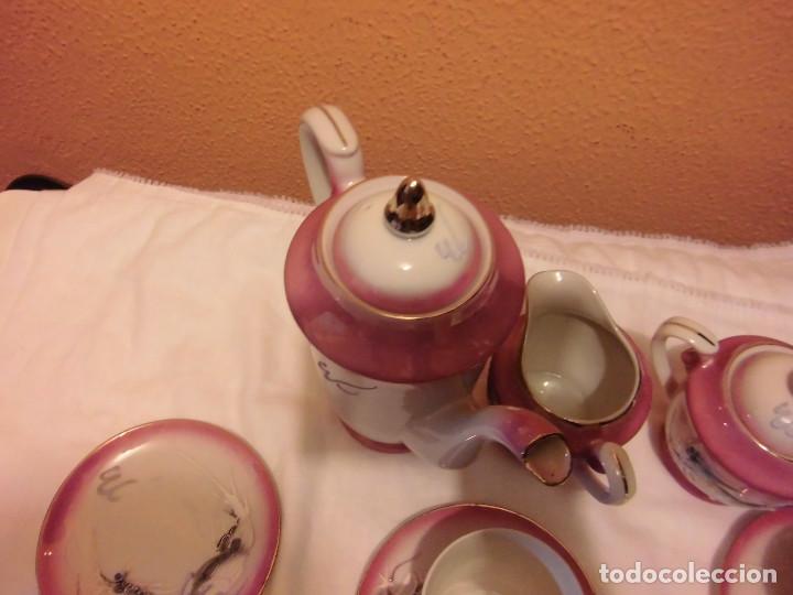 Antigüedades: ANTIGUO JUEGO DE CAFE MADE IN JAPAN,LAS TAZAS MIRADAS AL TRASLUZ SE VE LA CARA DE UNA JAPONESA. - Foto 15 - 81839752