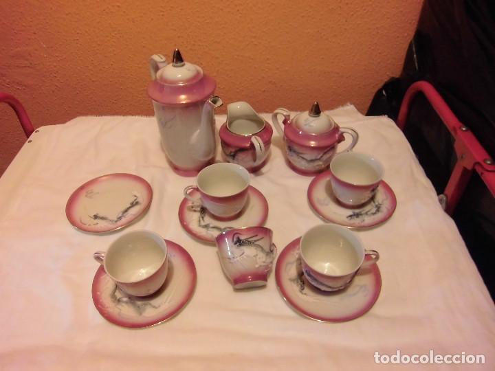 Antigüedades: ANTIGUO JUEGO DE CAFE MADE IN JAPAN,LAS TAZAS MIRADAS AL TRASLUZ SE VE LA CARA DE UNA JAPONESA. - Foto 16 - 81839752