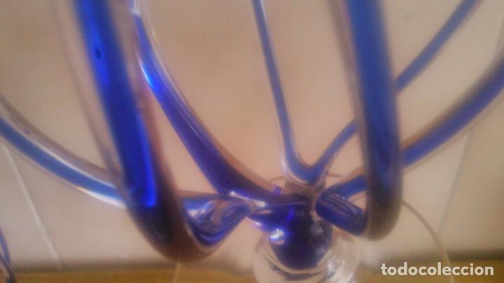 Antigüedades: Preciosa pareja de quinques lamparas de mecha de cristal,con mecha, - Foto 7 - 85960907
