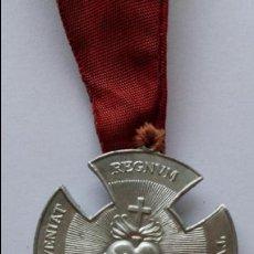 Antigüedades - Medalla adveniat regnum tuum de 3,6 x 3,3 cms - 81900164