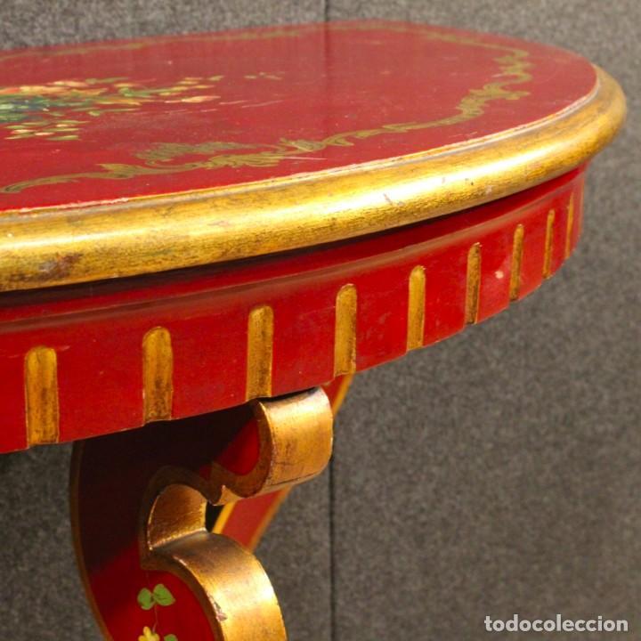 Antigüedades: Consola italiana lacada y pintada - Foto 5 - 81902772