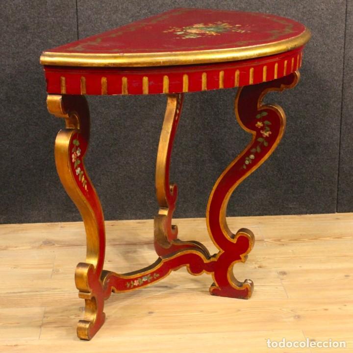 Antigüedades: Consola italiana lacada y pintada - Foto 6 - 81902772