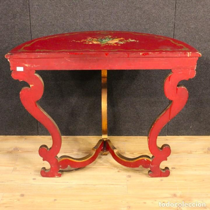 Antigüedades: Consola italiana lacada y pintada - Foto 7 - 81902772