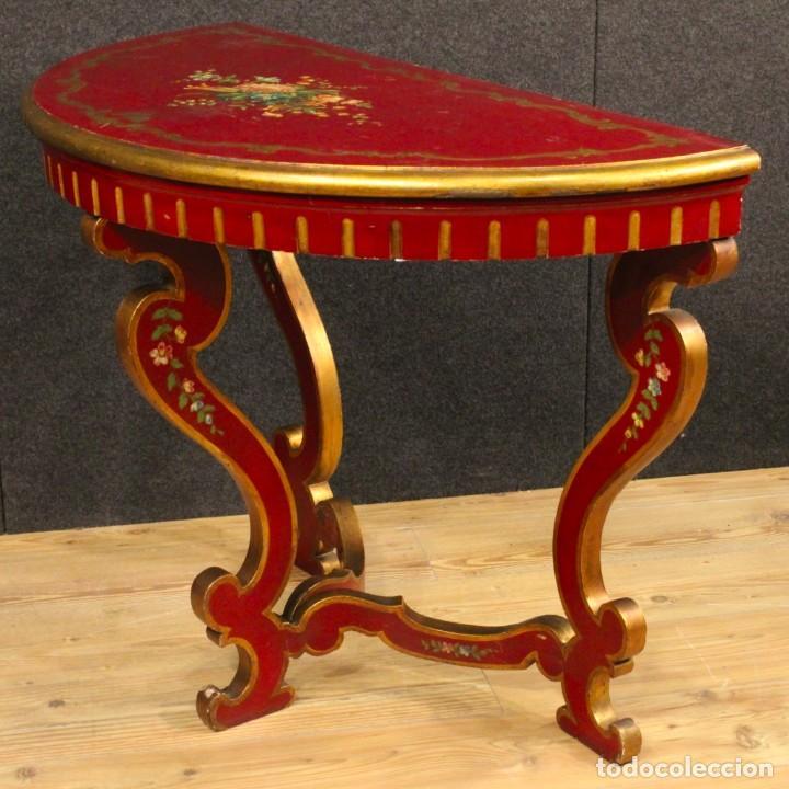 Antigüedades: Consola italiana lacada y pintada - Foto 8 - 81902772
