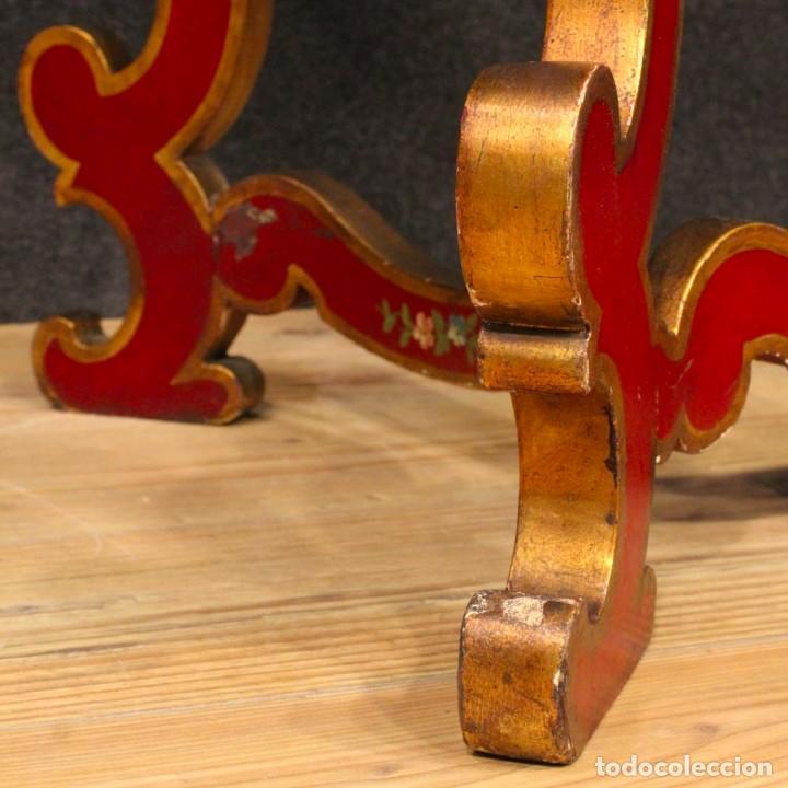 Antigüedades: Consola italiana lacada y pintada - Foto 11 - 81902772