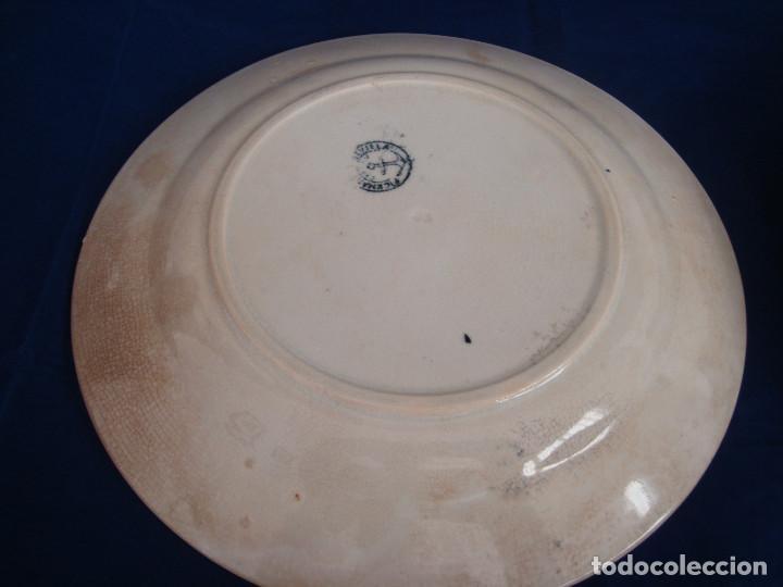 Antigüedades: PLATOS PICKMAN S.A SEVILLA CARTUJA 1900 A 1965 LOTE DE 6 PLATOS LLANOS - Foto 3 - 268894134