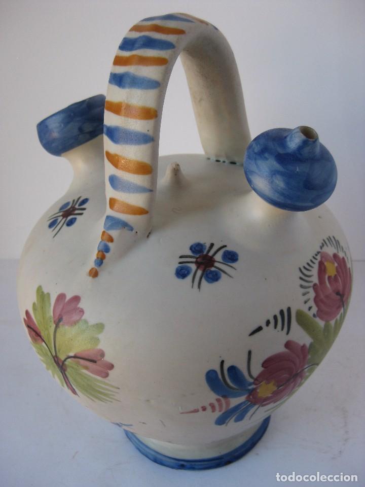 Antigüedades: Muy bonito botijo, de cerámica esmaltada cocida, de Talavera de la Reina. - Foto 3 - 81919400