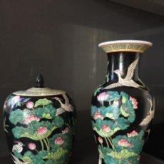 Reproducción de jarrones de porcelana china Estilo Chien Lung con certificados