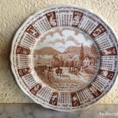Antigüedades: PLATO DE ALFRED MEAKIN 1979 CALENDARIO - PORCELANA INGLESA. Lote 81948604