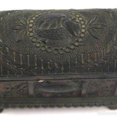 Antigüedades: ANTIGUO JOYERO EN METAL DECORADO. AÑOS 30.. Lote 82009152