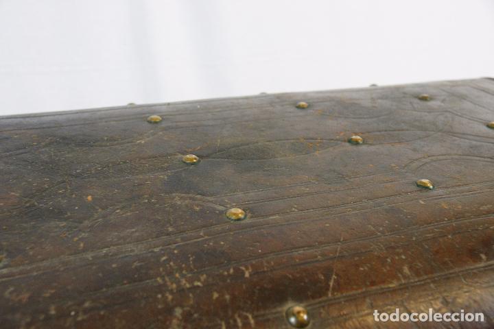 Antigüedades: ESPECTACULAR Y ÚNICO BAÚL DE CUERO FABRICADO EN NEW YORK POR LA CASA CROUCH & FITZGERALD - SIGLO XIX - Foto 4 - 82017528