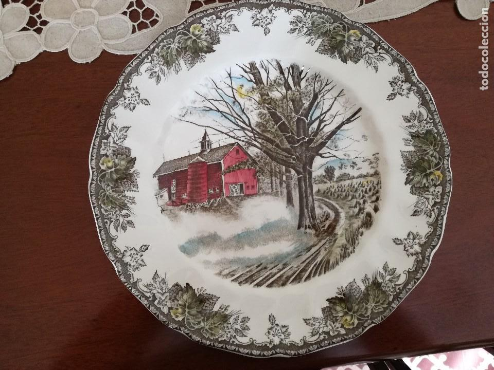 Plato porcelana johnson bros paisaje ingl s comprar for Porcelana en ingles