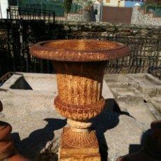 Antigüedades: ANTIGUA JARDINERA O COPA EN HIERRO . Lote 82069998