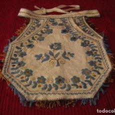 Antigüedades: PRECIOSO MANDÍL MUY ANTIGUO,BORDADO A MANO.. Lote 82074212