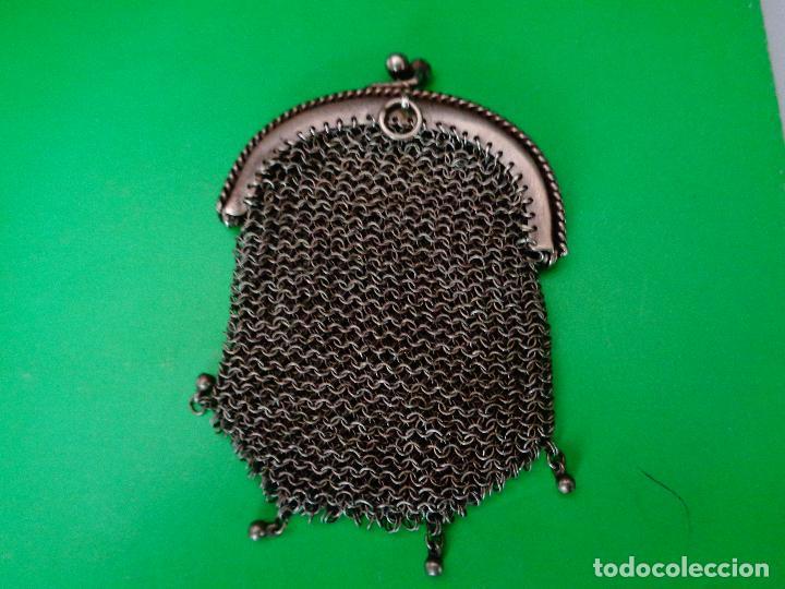 Antigüedades: bolso o monedero malla siglo XIX - Foto 2 - 82097236
