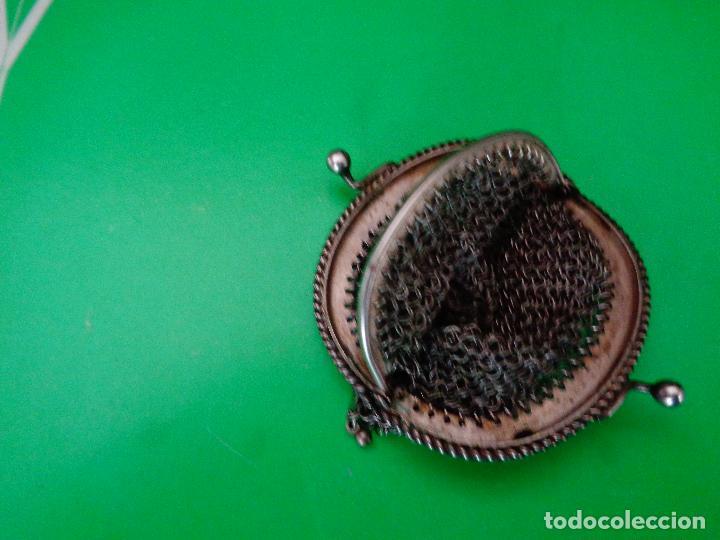 Antigüedades: bolso o monedero malla siglo XIX - Foto 3 - 82097236