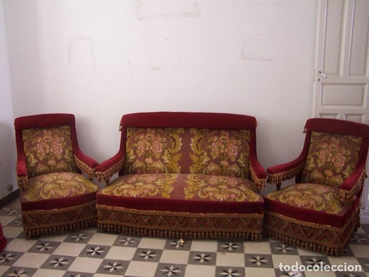 Tresillo de 1900 comprar sof s antiguos en todocoleccion for Sofas antiguos