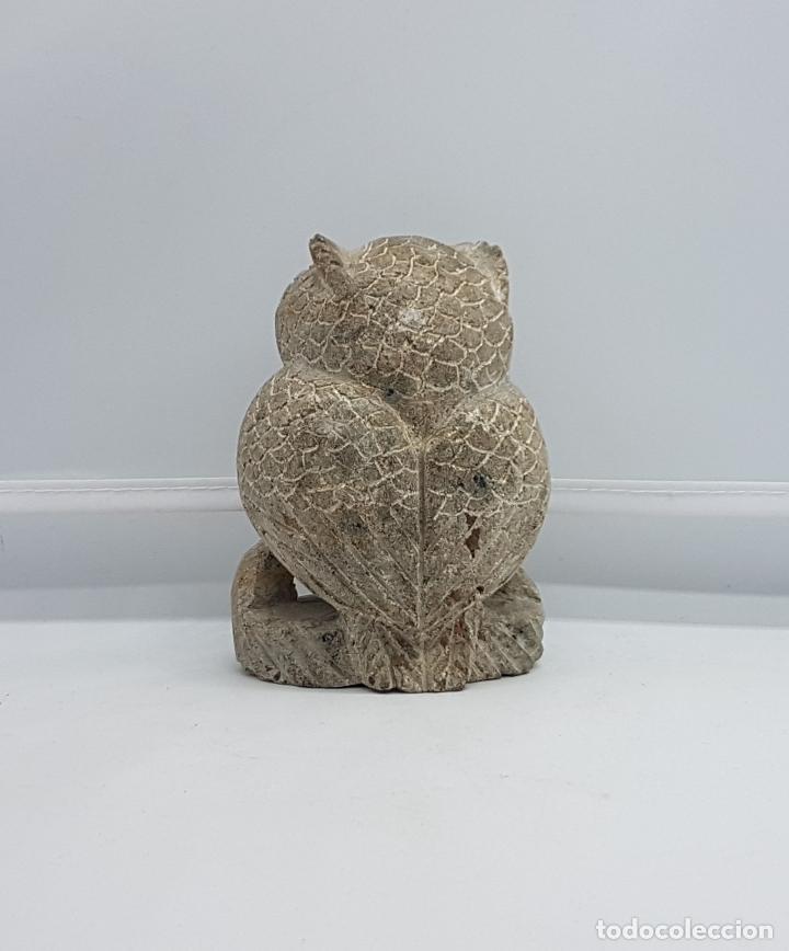 Antigüedades: Escultura antigua en piedra tallada a mano de búho de la suerte. - Foto 4 - 82176368