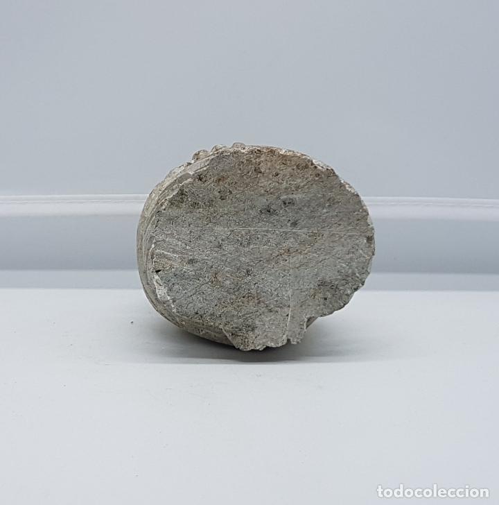 Antigüedades: Escultura antigua en piedra tallada a mano de búho de la suerte. - Foto 7 - 82176368