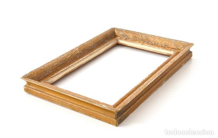 marco de madera dorado - antiguo porta fotos o - Comprar Marcos ...