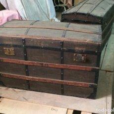 Antigüedades: ANTIGUO BAÚL DE MADERA. Lote 143166529