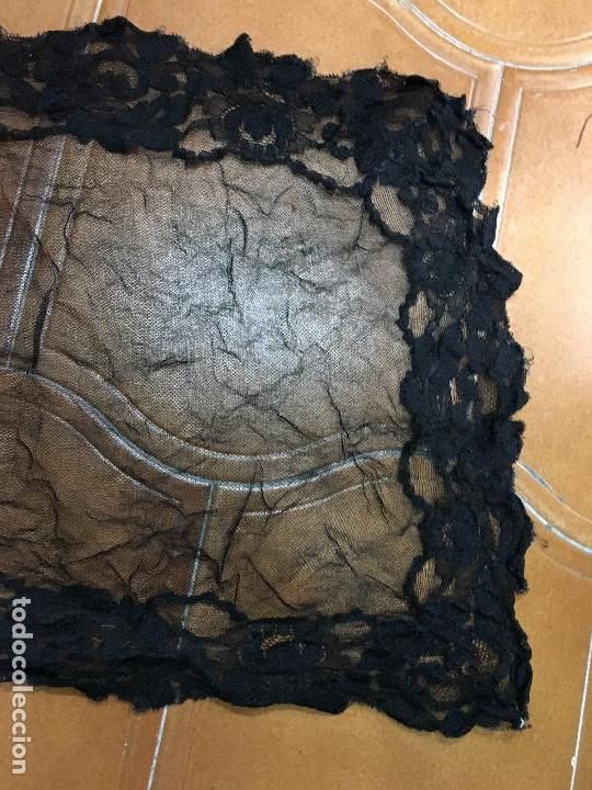 Antigüedades: VELO MANTILLA NEGRA CON BLONDA AÑOS 20 - MEDIDA 100X40 CM - Foto 2 - 166282561