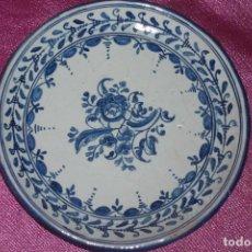Antigüedades: ANTIGUO PLATO CERAMICA PINTADO A MANO Y FIRMADO TALAVERA DURAN . Lote 82288804