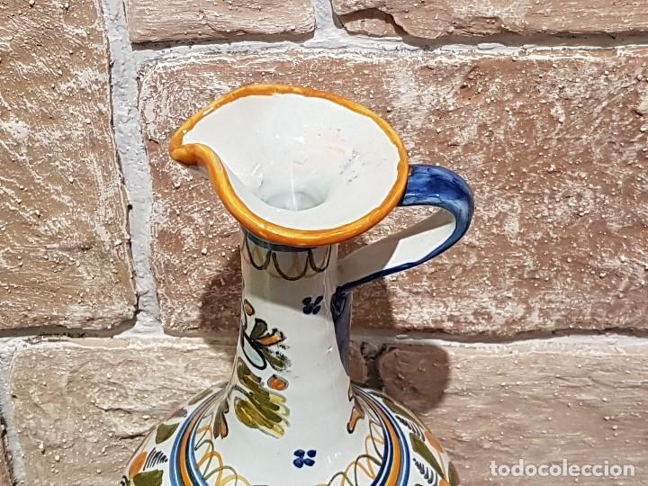 Antigüedades: ANTIGUA JARRA DE TALAVERA, 28 Cm. DE ALTURA, PINTADA A MANO, SIN FALTAS. - Foto 2 - 82329340