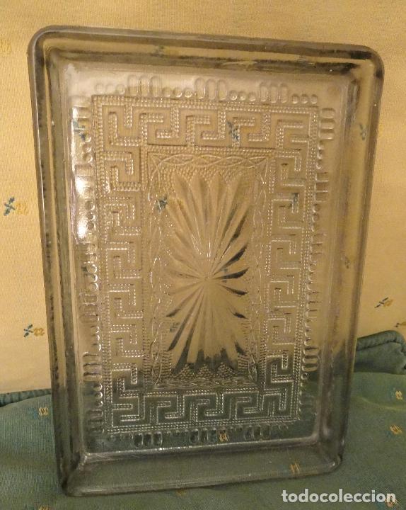 bandeja modernista cristal cenefa romana antigedades cristal y vidrio otros