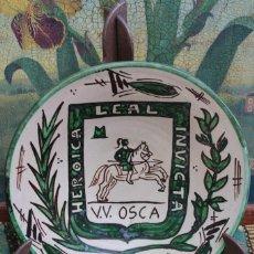 Antigüedades: PLATO DE TERUEL ESCUDO DE HUESCA PUNTER 4 GENERACION. Lote 143296762