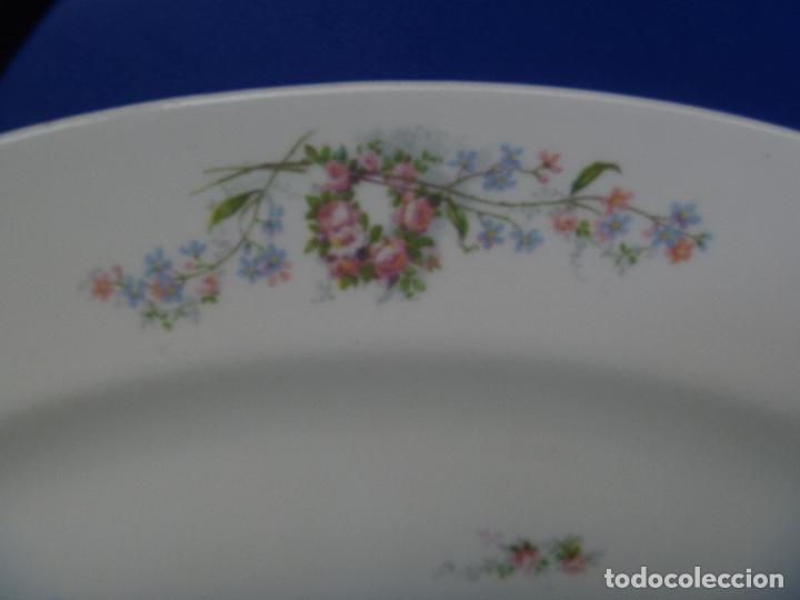 Antigüedades: Gran fuente loza Limoges flores Jean Pouyat JPL ANCIENNE LIMOGES FLEURS PLAT Old Serving plate - Foto 3 - 82342564